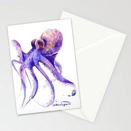 Octopus, purple pink decor Stationery Cards