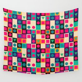 Geometric pattern with shapes Wall Tapestry