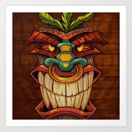 Tiki Head Style 1 Art Print