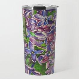 His Wife's Lilacs Travel Mug