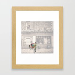 Red Bicycle in front of a Kennedys Bar Ireland Framed Art Print