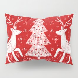 Winter Woodland Scene Pillow Sham