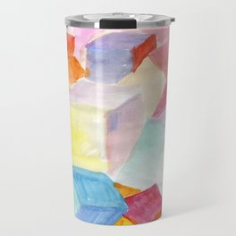 Abstract cubic world Travel Mug