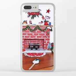 Mini Christmas Decorations Clear iPhone Case