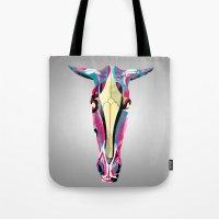 horse Tote Bags featuring horse by Alvaro Tapia Hidalgo