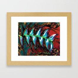 Flora Celeste Kyanite Aqua Aura Leaves Framed Art Print
