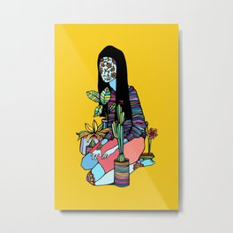 The Blossoming Girl Metal Print