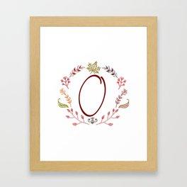 Floral O letter Framed Art Print