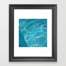 Water Words Framed Art Print