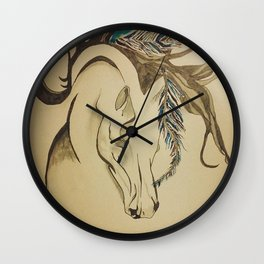 Fearless Feather Wall Clock