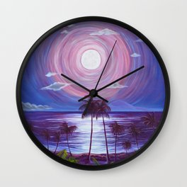 Ka Mahina Pā Konane Wall Clock
