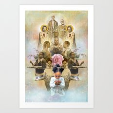 Healing the Past & Present for the Future: A TLCbyTLJ & Black Lives Matter Collaboration Art Print