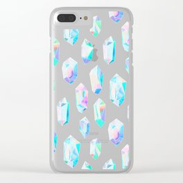 Iridescent Rainbow Crystals Clear iPhone Case