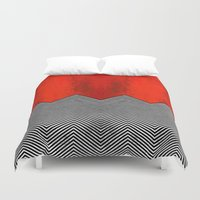 "twin peaks Duvet Covers featuring Twin peaks ""David Lynch"" by Spyck"