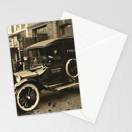 Vintage Police Car Stationery Cards