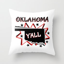 Oklahoma State Pride Throw Pillow