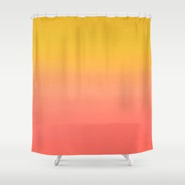 Coral to Gold Ombre Hombre Sunset Shower Curtain