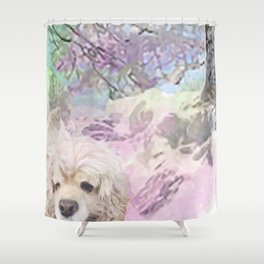 Snow Dog (for Philippa) Shower Curtain