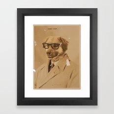 Winston The Dog Framed Art Print