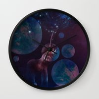 bubbles Wall Clocks featuring Bubbles by ShadowPaw Pictures