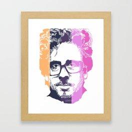 TIM BURTON IN COLORS Framed Art Print