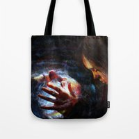 xmen Tote Bags featuring X men by Luca Leona