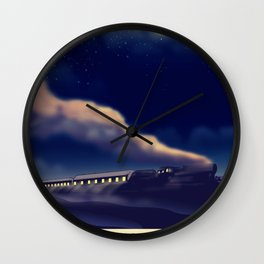 Night Train To London Wall Clock