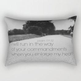 Psalm 119:32 Run  Rectangular Pillow