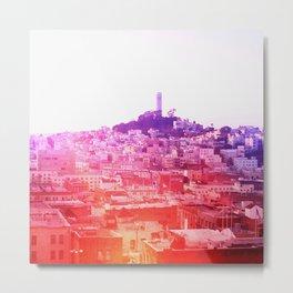 Crayola Skyline Metal Print