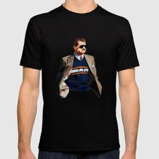 Geometric Ditka Mens Fitted Tee X-LARGE Black