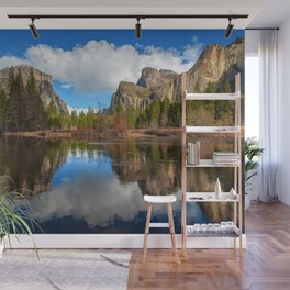 Yosemite Valley View Reflection Wall Mural