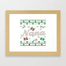 Nana Christmas Framed Art Print