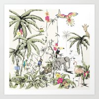 jungle Art Prints featuring Jungle by Annet Weelink Design