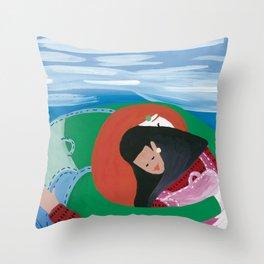 September Throw Pillow