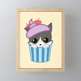 cupcake kitty Framed Mini Art Print