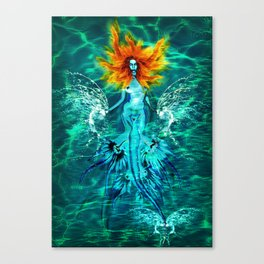 Siren splash Canvas Print