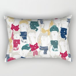 Happy llamas Christmas choir Rectangular Pillow