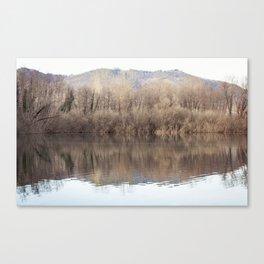 Water lake reflections Canvas Print