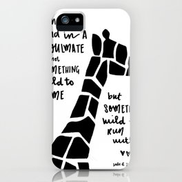 Wild thing card iPhone Case