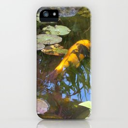 Koi Pond and Lilypads iPhone Case