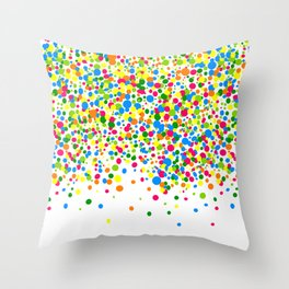 Rain of colorful confetti Throw Pillow