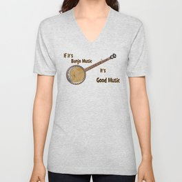 Banjo Music Unisex V-Neck