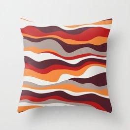 Cordillera Stripe: Red, Orange Combo Throw Pillow