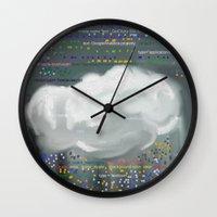 code Wall Clocks featuring Raining code by Robert Morris