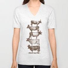 Cow Cow Nuts Unisex V-Neck