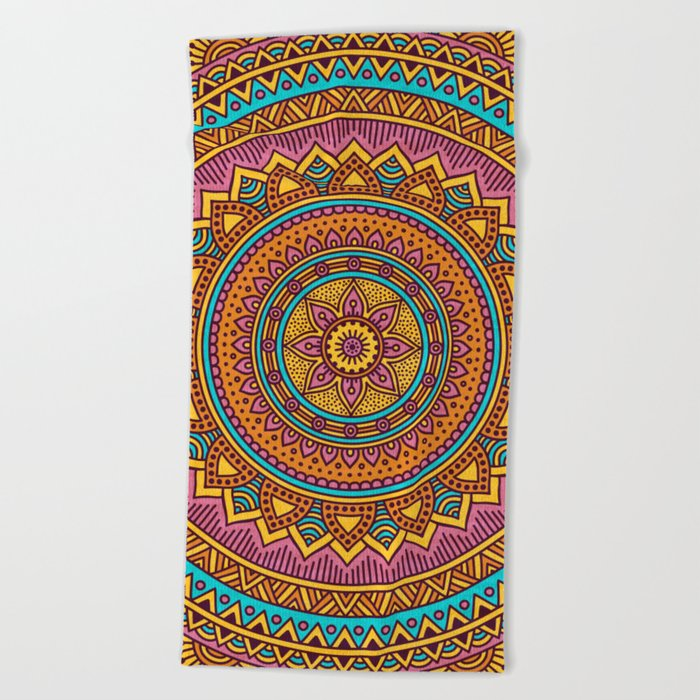 Hippie mandala 63 Beach Towel