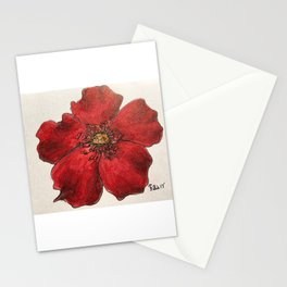 Red Winter Rose Stationery Cards