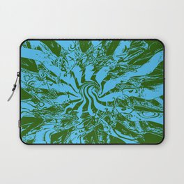 Pattern #2 B - Blue Green Swirl Laptop Sleeve