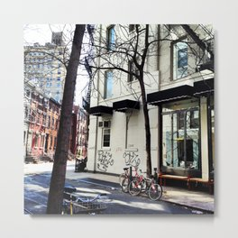 Bike in the West Village Metal Print