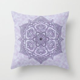 Spiritual Purple Mandala Throw Pillow